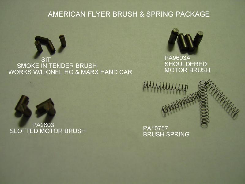 AMERICAN FLYER MOTOR BRUSHES AND SPRINGS